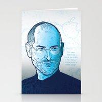 steve jobs Stationery Cards featuring Steve Jobs by BTillustration