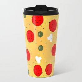 Cool and fun vector pizza Travel Mug