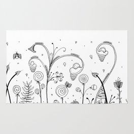 Secret Garden Illustration Rug