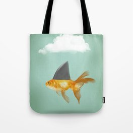 Goldfish with a Shark Fin (under a cloud) Tote Bag
