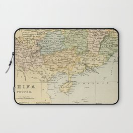 Vintage Map of The South Of China Laptop Sleeve