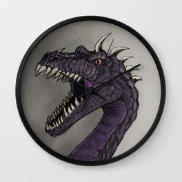 Evil purple dragon Wall Clock