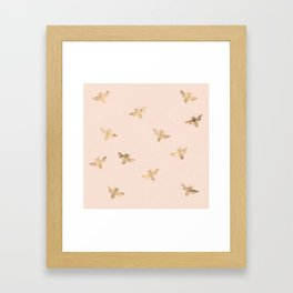 Busy Bees (Pink) Framed Art Print