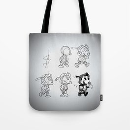 Cartoon Character Step by Step Tote Bag
