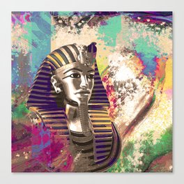 King Tut  Mask Abstract composition Canvas Print