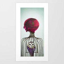 Looking behind Art Print