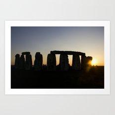 Stonehenge at Sunset Art Print