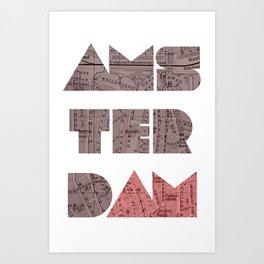 AMSTERDAM (Blok Series) Art Print