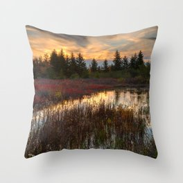 Autumn Dolly Sods Sunset Throw Pillow
