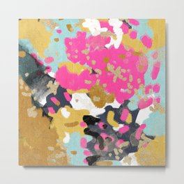 Sacha - abstract painting boho color palette bright happy dorm college abstract art Metal Print