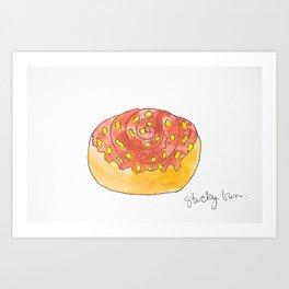 Caramel Sticky Bun Art Print