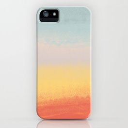 Ceramic Sunset // Multi Color Speckled Drip Summer Beach California Surf Vibes Wall Hanging Design iPhone Case