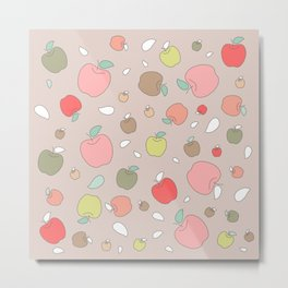 Autumn apples. Pastel Metal Print