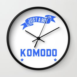 Komodo Dragon Dragon Boy Wall Clock