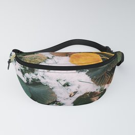 Snow leaves Fanny Pack