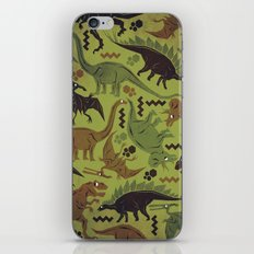 Camouflage Dinosaur Geometric Pattern iPhone & iPod Skin