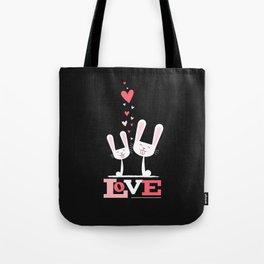 2 Bunnies in Love Tote Bag