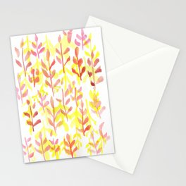 170814 Leaves Watercolour 10 Stationery Cards