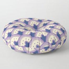 Fan Pattern Lavender and Blue 991 Floor Pillow