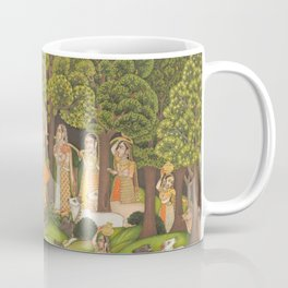 Radha and Krishna meet in the forest during a storm, 1770 Coffee Mug