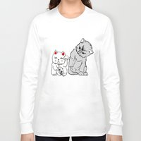 kittens Long Sleeve T-shirts featuring Kittens by Larice Barbosa