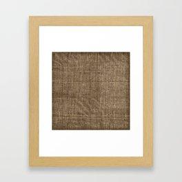 Aged and Creased Burlap Print Framed Art Print