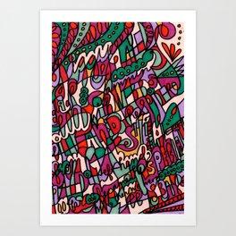 Jammin' Good (Berry) Art Print