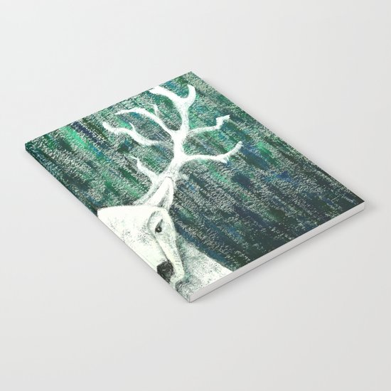 Christmas Stag handpainted Notebook