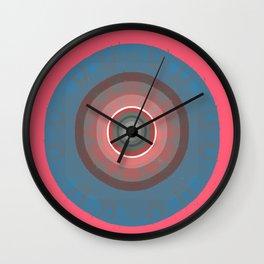 Joy and Intention Retro Color Therapy Meditation Mandala Wall Clock