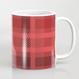 Red And Black Flannel Pattern Design Coffee Mug
