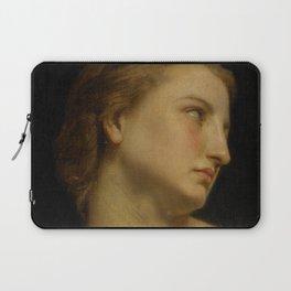 """William-Adolphe Bouguereau """"Study Of a Woman's Head (Philomèle Et Progné)"""" Laptop Sleeve"""