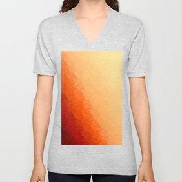 Orange Texture Ombre Unisex V-Neck