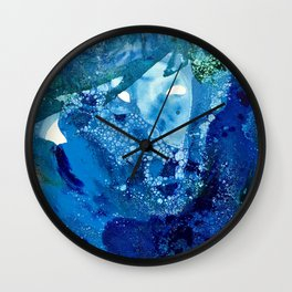 Environmental Blue Leaves, Tiny World Collection Wall Clock