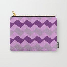 Purple Zig Zag Pattern Carry-All Pouch