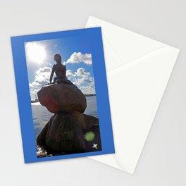 Little Mermaid Backlight Copenhagen Denmark Photograph Stationery Cards