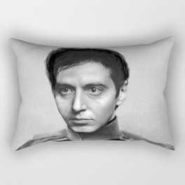 Al Pacino Scar Face General Portrait Painting | Fan Art Rectangular Pillow