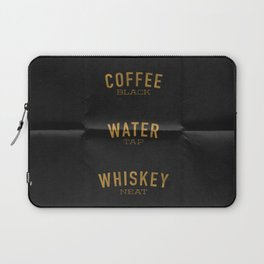 Coffee Water & Whiskey Laptop Sleeve