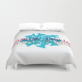Abstract shape with lorem ipsum Duvet Cover