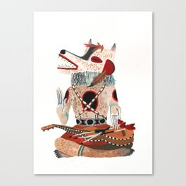 Sitting Wolf Canvas Print