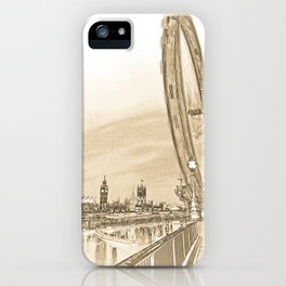 London Eye and Westminster iPhone Case
