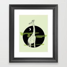 Giraffe in geometric style Framed Art Print