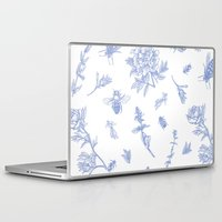 insects Laptop & iPad Skins featuring Insects & Flowers by Sollefe