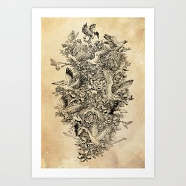 Blooming Flight Art Print