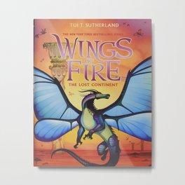Wings Of Fire Blue Metal Print