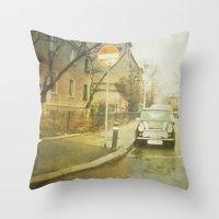 mini Throw Pillows featuring Mini by Esco