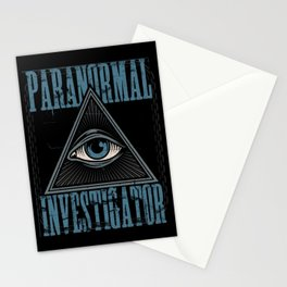 Paranormal Investigator Ghost Hunter All Seeing Eye Gift Stationery Cards