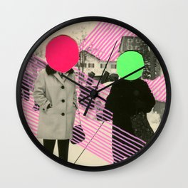 Fluo Conversations Wall Clock
