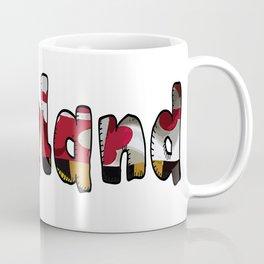Maryland Font with Flag of Maryland Coffee Mug