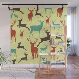 Deer Grandeur Pattern Wall Mural