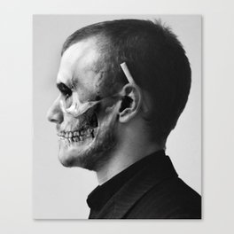 Skull Double Exposure Canvas Print